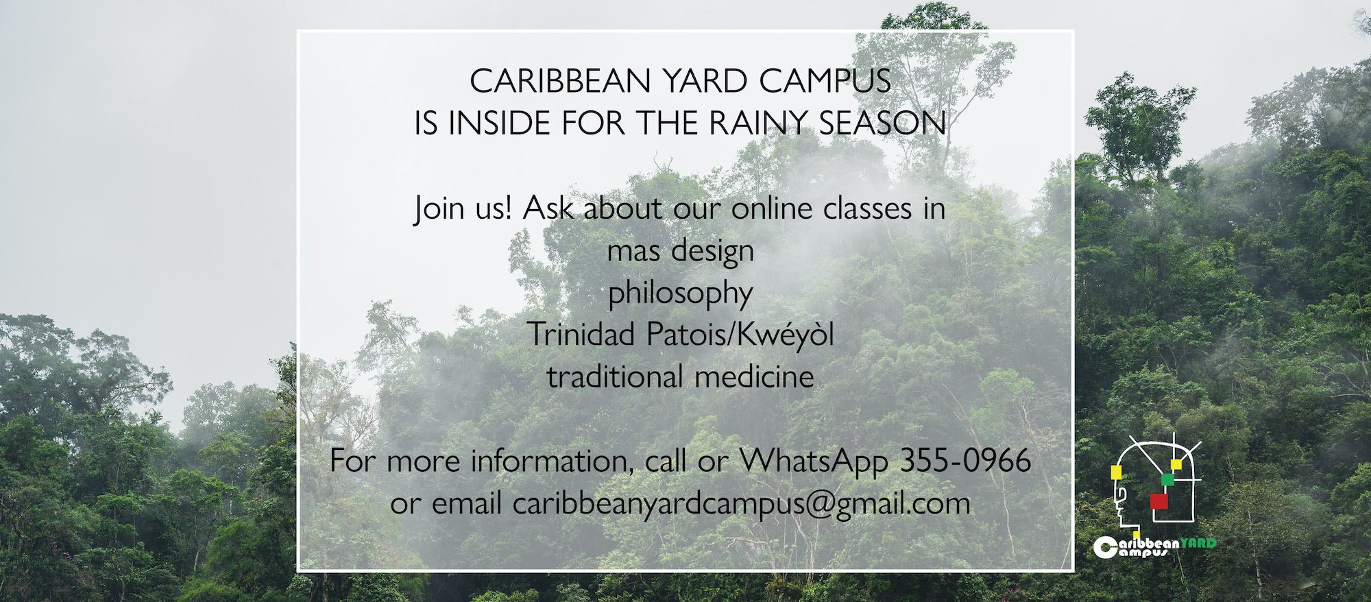 Caribbean Yard Campus is ON and online for 2020!